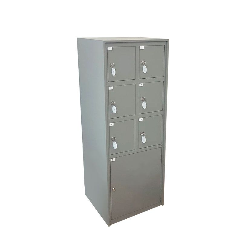 Cp07 St Storage Lock Cabinet With Mechanical Designed 7 Compartments 4 Small 2 Medium 1 It Allows Users A Safe Deposit Service At The