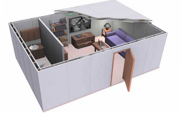 Panic room armored zone solutions cometa s p a for Panic room construction plans