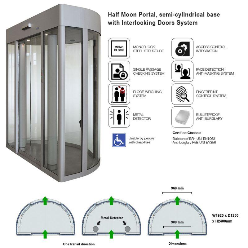Half moon base security portal with interlocking doors  sc 1 st  CoMETA & Half moon Portal Co140 - Product detail - CoMETA S.p.A.