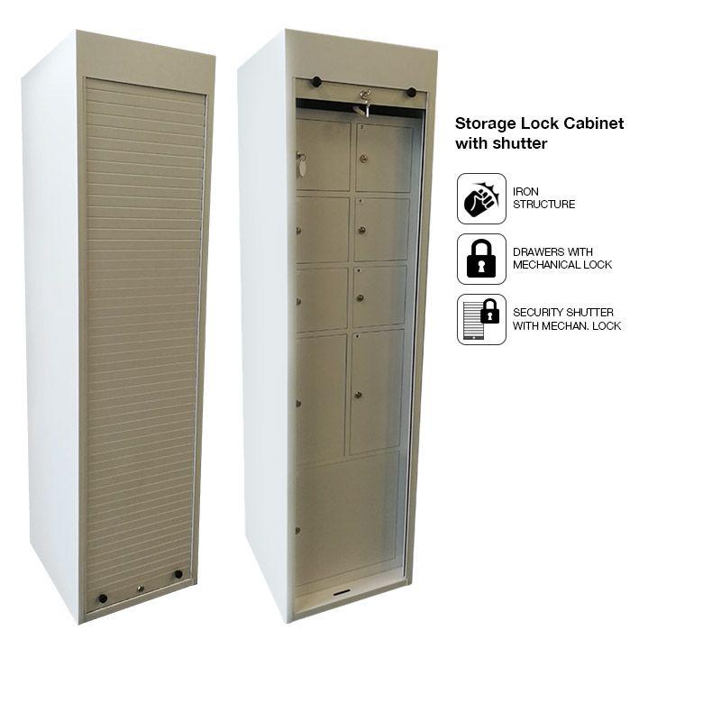 Storage Lock Cabinet With Shutter