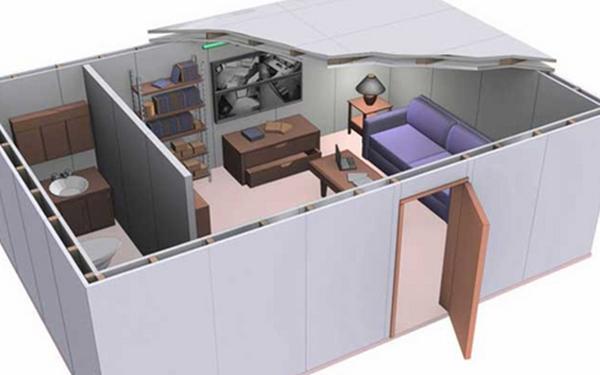 Panic Room Sicurezza Persone Safety Area Di Protezione Rifugio Antieffrazione Antirapina